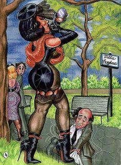 Steffi femdom art slave husband