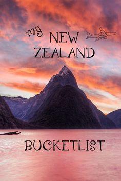 14 Adventures on my bucketlist for my upcoming camper van road trip around New Zealand