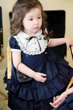 Kids Frocks, Frocks For Girls, Kids Outfits Girls, Toddler Girl Dresses, Little Girl Dresses, Girl Outfits, Girls Dresses, Girl Toddler, Baby Girl Dress Patterns