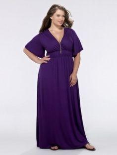 Grecian Plus Size Maxi Dress - Royal Purple