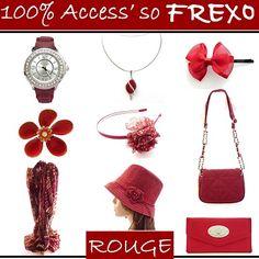 Le Rouge, so Glamour !!! Couleur indispensable de la garde-robe, le Rouge chez Frexo est à retrouver dans les Sacs à Main, les Montres, les Colliers, les Compagnons, les Bagues, les Chapeaux, les Headbands..... Place au Rouge et à la sensualité !!! http://www.frexo.fr/Accessoires-Rouge.htm
