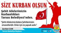 Tarsus'ta şehit ailelerinin kurbanlıklarını belediye verecek...