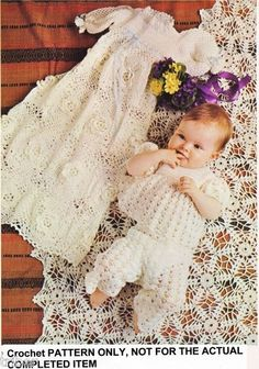 Beautiful Crochet Pattern for Baby Christening Gown Pattern will be sent to your e-mail address in PDF format within 24 hours after Baby Blessing Dress, Baby Dress, Baby Knitting, Crochet Baby, Kids Crochet, Baby Christening Dress, Irish Crochet Patterns, Crochet Ideas, Gown Pattern