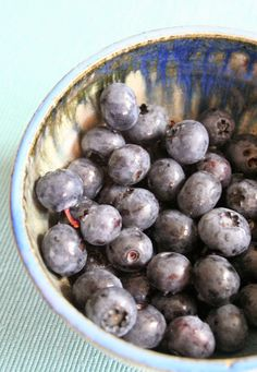 Yummy blueberries!