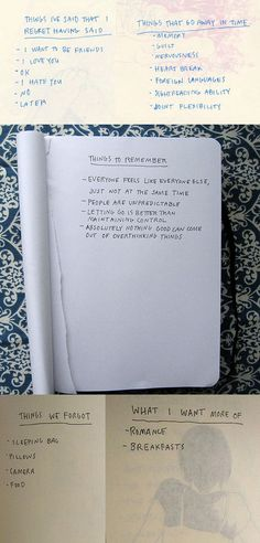 lists by Mia Nolting So gosh darn applicable to the rest of us.