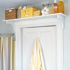 Bathroom Storage Ideas for Small Spaces - Above The Door Shelf - Click Pic for 42 DIY Bathroom Organization Ideas Bathroom Storage Ideas for Small Spaces - Above The Door Shelf - Click Pic for 42 DIY Bathroom Organization Ideas Small Space Storage, Small Space Organization, Home Organization, Storage Spaces, Extra Storage, Organizing Ideas, Vertical Storage, Clothes Storage Ideas For Small Spaces, Bedroom Storage For Small Rooms