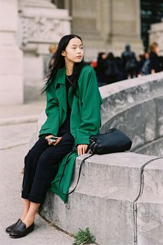 Chinese model Xiao Wen Ju, after Chanel, Paris, October 2012.