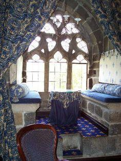 Langley Castle Hotel: Window Reading Nook