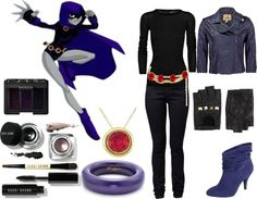 """""""Teen Titans Raven"""" by nybabe96 ❤ liked on Polyvore"""
