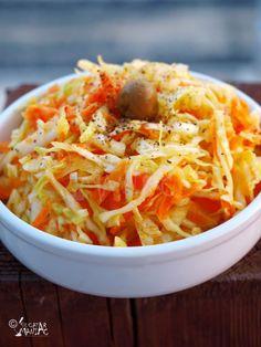 salata de varza cu morcovi Romanian Food, Ethnic Recipes