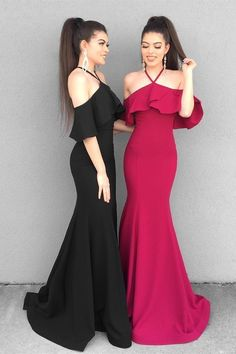 Women Dresses,Cute Dresses, Simple Chiffon Lace Prom Dresses,Long Prom