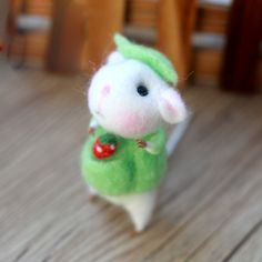 Needle Felted Felting Animals Cute Green Mice Mouse
