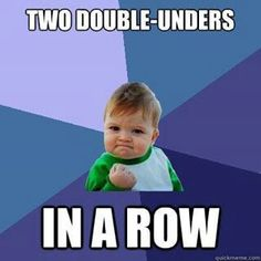 Yep, that is how I was at the start of learning double unders.