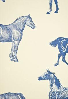 horse wallpaper- florence broadhurst
