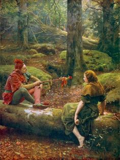 John Collier ~ In the Forest of Arden