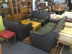 "This is a brand new set of Leather furniture.  Includes sofa, love seat & club chair.  All brand new high end leather.   <br>						  Are You Looking For A Great Deal On Leather Furniture??  <br>    <br> This furniture is all high quality, top grain all leather.  NOT A BLEND or leatherette like you'd find at the cheap discount stores.  These pieces have leather on the sides and backs too, not just the seating surface.  <br> THIS STUFF IS THE REAL DEAL & IT""S BRAND SPANKIN NEW TOO!  <br> Now…"