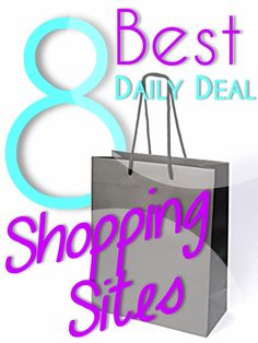 8 Best Daily Deal Shopping Sites A few I have not been on.plus the site itself looks worth exploring. Online Shopping Sites, Shopping Hacks, Nice Shopping, Online Deals, Frugal Tips, Love To Shop, Saving Ideas, Retail Therapy, Daily Deals