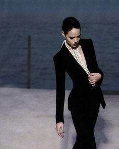 freja beha erichsen in 'what's glam now' by karl lagerfeld for harper's bazaar