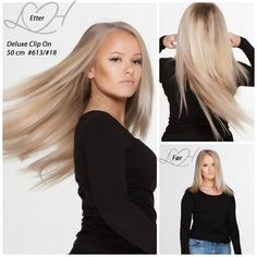 Clip On Deluxe 50 cm- Finest quality Hair Extensions with quality guaranteed - LuxusHair Extensions Hair Extensions, Hair Clips, Long Hair Styles, Beauty, Weave Hair Extensions, Hair Rods, Extensions Hair, Long Hairstyle, Long Haircuts