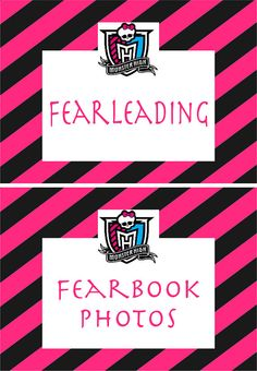 Monster High party sign collection by dotanddashparties on Etsy