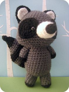 "Pattern/Inspiration - ""Raccoon Crochet Amigurumi Pattern - in Forrest Friends Pattern Set"" (Pattern available for purchase)"