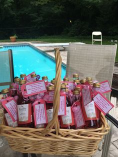 """Baby Shower Party Favor   """"Little (Boden) is coming, the time is near. When you get the big news.. Open your bottle and send her a cheer!"""""""
