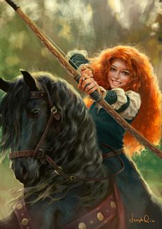 Merida by JosephQiuArt on DeviantArt - Trend Disney Stuff 2019 Disney Animation, Disney Pixar, Heros Disney, Film Disney, Disney Princess Art, Anime Princess, Disney Kunst, Disney Fan Art, Disney Cartoons