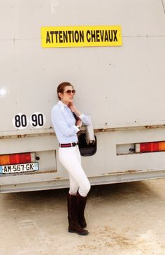Charlotte Casiraghi- I gravitate toward the sleek lines of riding attire. (although I must admit I'm terrified of riding horses)