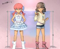 Inazuma Eleven Go Kirino et Shindou fanarts Partie 3