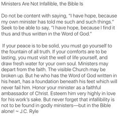 The infallible Word of God