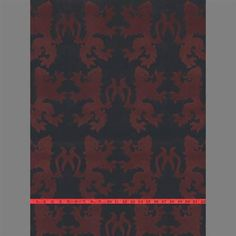 1950's Red Lions velvet flock wallpaper on black ground  Paper-backed, velvet flocked textured wallcovering 27 in. wide x 15 yd. long per packaged roll - about