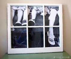 HAVE to do this!!  I have the window, just need a cool pic and get it enlarged!!  Love...