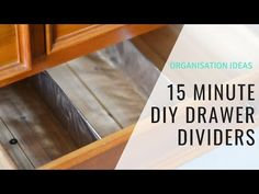 Create your own DIY Custom Drawer Dividers from cardboard in under 15 minutes and tame your clothing drawers in a flash - Konmari style. Cardboard Drawers, Plastic Drawers, Diy Drawers, Cardboard Crafts, Home Organisation Tips, Organization Hacks, Kitchen Drawer Dividers, Organizing Your Home, Organising