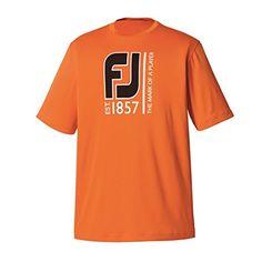 9b11a1f8269c Amazon.com   FootJoy Graphic Tee Golf Shirt Previous Season Apparel Style  2016 Navy Large   Sports   Outdoors
