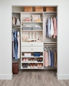 Inspired Closets | Custom Closets and Home Organization Front Closet, Reach In Closet, Bed In Closet, Closet Bedroom, Master Closet, Small Modern Bedroom, Attic Bedroom Small, Modern Closet, Tiny Bedrooms