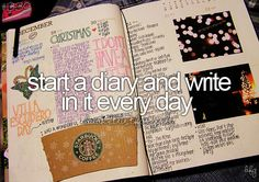 The started part I've done, it's the everyday part I'd like to do! I cannot get into it. It has been 4 months I did not even open my diary or journal.