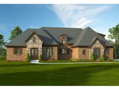 062H-0075: European-Style Multi-Generational House Plan