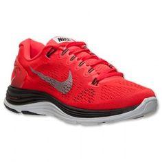 buy popular d6059 09412 Chaussures Nike Lunarglide+ 5 pour courir Homme Rouge   Noir   Blanc De  Platine pas cher