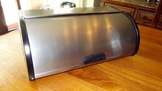 Vintage Brushed Stainless Steel Bread Box  This stainless breadbox is in overall good condition but does have a few dents as pictured. Weve