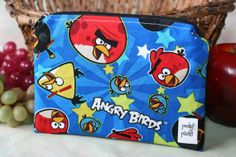 Zippered Snack Pack  Angry Birds  Blue by PookyPacks on Etsy, $7.00 Snack Pack, Angry Birds, My Sister, Coin Purse, Packing, Etsy Shop, Zipper, Snacks, Wallet