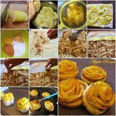 Mini tartelette pommes - Forme de rose