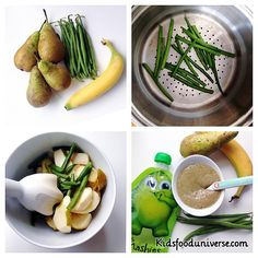 Green beans, banana and pear Babyfood puree, super delicious and suitable for weaning babies aged 6 months +