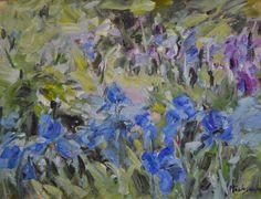 Irişi albaştri – Marinela Măntescu – 2500 lei   EliteArtGallery - galerie de artă
