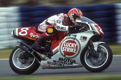Saen Emmett riding the incredible Suzuki RGV500. The 500cc GP bike most famous for it's association with sir Kevin Scwantz.