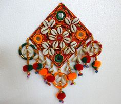 Banjara cowry shell applique With  Mirrors And by uDazzleSupplies