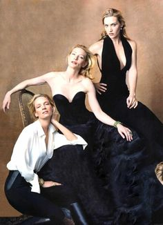 Uma Thurman, Kate Winslet, Cate Blanchett by Annie Leibovitz.