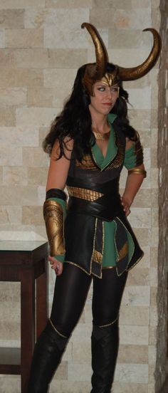 This looks like a cool Loki cosplay costume. All I would need would be the staff and the green cape.