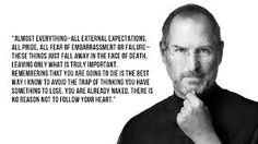 remembering that i'll be dead soon is the mot important tool i' ve ever encountered steve job quote