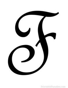 Print Free Large Cursive Letter F. Letter F in Cursive Writing for Wall Hangings or Craft Projects. Cursive Letter F Cutout on Full Sheet of Paper. Stencil Lettering, Tattoo Lettering Fonts, Lettering Tutorial, Typography, Lettering Styles, Hand Lettering, Cursive Letters Fancy, Calligraphy Letters, Writing Cursive