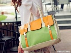 Sumptuous Finds Color Series First Collection: Part 1 (Four Items) MDR Store Updated Version Fashion Women's Faux Leather Handbag Lady Girl PU Totes Hobo Hand Bag & Shoulder Bag Yellow Green